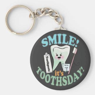 Dentist Dental Hygienist Basic Round Button Keychain