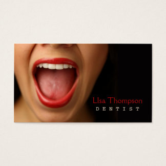 Dentist / Dental Medical Mouth Human Face Clinic Business Card