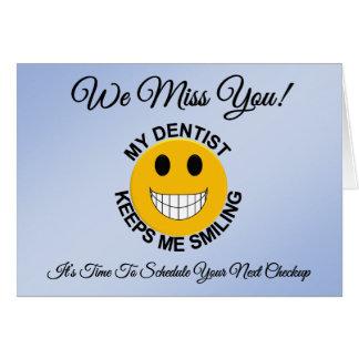 Dentist / Dental Patient Checkup Reminder Card