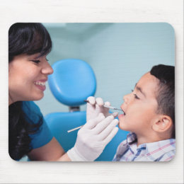 DENTIST, DOCTOR AND PATIENCE RELATIONSHIP MOUSE PAD