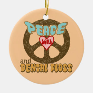 Dentist Double-Sided Ceramic Round Christmas Ornament