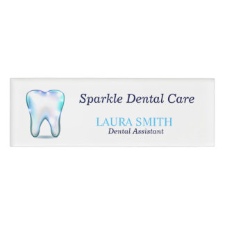 Dentist Employee Staff Magnetic Name Tag