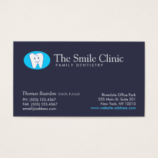 Dentist Family Dentistry Smiling Tooth Business Card