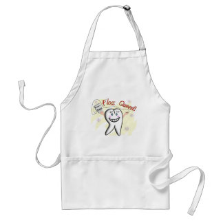 Dentist Floss Queen T-Shirts and Gifts Apron
