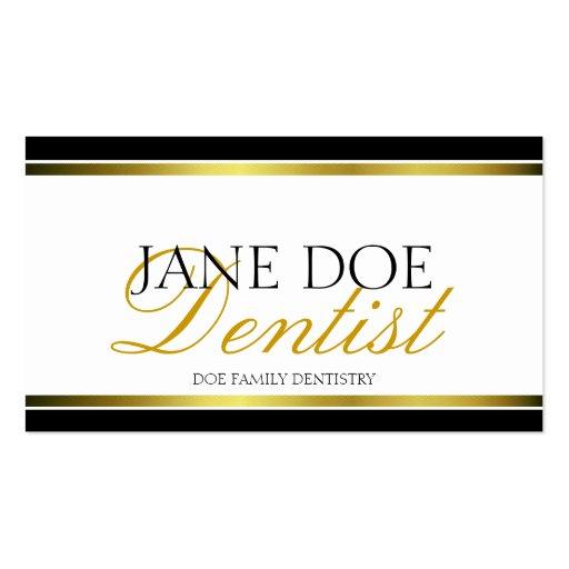 Dentist Gold Metallic Script Business Card Templates