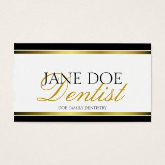 Dentist Gold Metallic Script Business Card