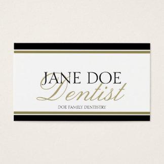 Dentist Gold Script -Available Letterhead - Business Card