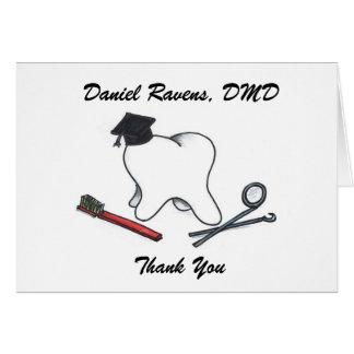 Dentist Graduation Thank You Card