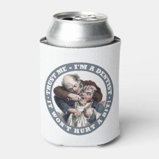 DENTIST humor custom monogram drink coolers Can Cooler