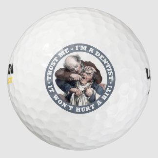 DENTIST humor golf balls