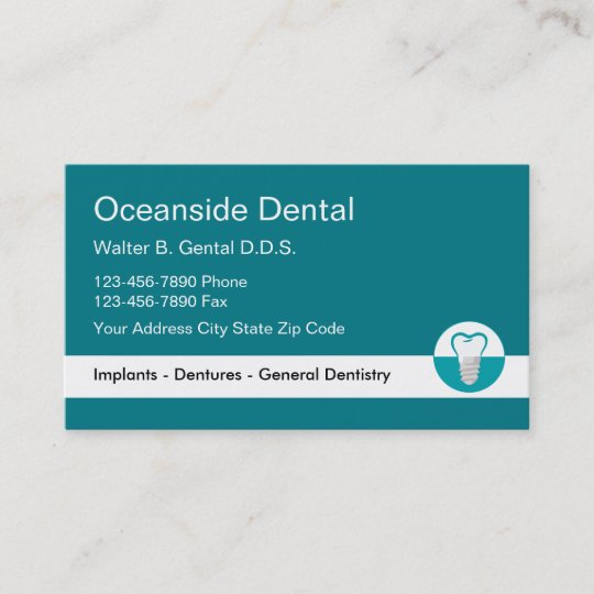 Dentist implant business card template zazzle dentist implant business card template accmission Images
