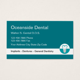 Cosmetic dentistry business cards templates zazzle dentist implant business card template reheart Image collections