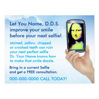 Dentist Improve your Next Selfie Postcard