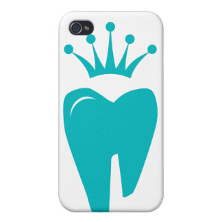 Dentist iPhone Cover Cute Tooth Crown Logo Blue iPhone 4/4S Cases