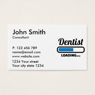 Dentist loading business card