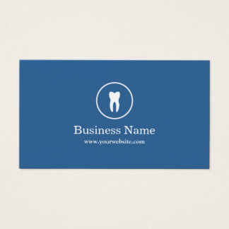 Dentist Minimal Plain Blue Dental Care Business Card