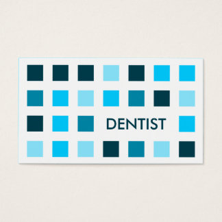 DENTIST (mod squares) Business Card