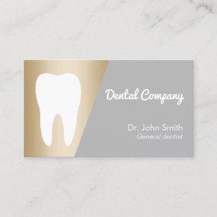Dental hygiene business cards templates zazzle dentist modern gold dental appointment colourmoves Gallery