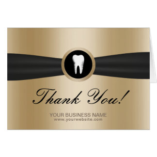 Dentist Modern Gold Dental Office Thank You Card