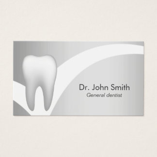 Dentist-Modern Silver Professional Dental Business Card