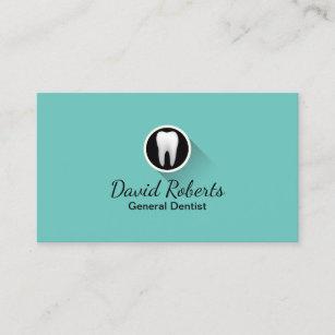 dentist modern tooth logo professional dental care business card - Dentist Business Card