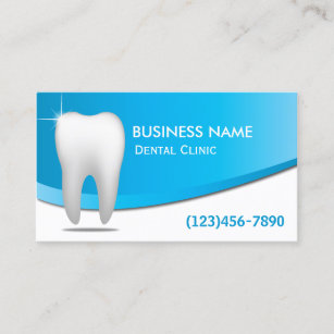 Oral care business cards zazzle dentist modern white teeth dental care business card colourmoves