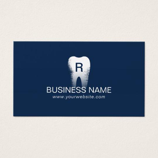 Dentist monogram tooth initial navy blue dental business card dentist monogram tooth initial navy blue dental business card reheart Choice Image