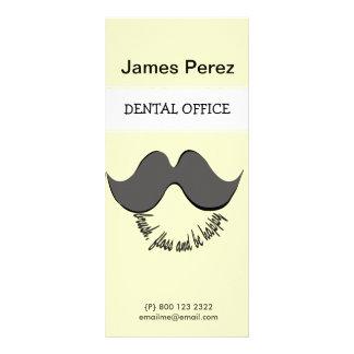 Dentist Mustache Full Color Rack Card