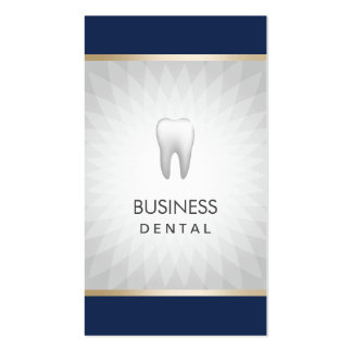 Dentist Navy Blue & Silver Dental Appointment Business Card