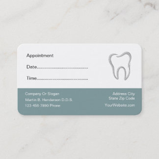 Dentist Office Appointment Cards