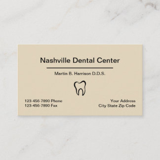 Dentist Office Appointment Combination Business Card