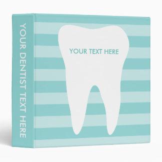 Dentist office binder for dental care clinic