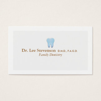 Dentist Office DDS Appointment Business Card