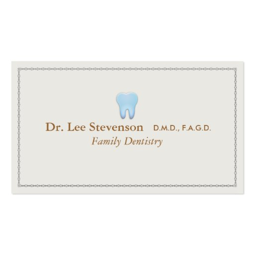 Dentist Office Tooth Logo Appointment Business Card Templates