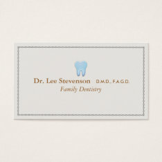 Dentist Office Tooth Logo Appointment Business Card at Zazzle