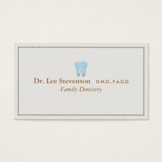 Dentist Office Tooth Logo Appointment Business Card