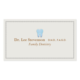 Dentist Office Tooth Logo Appointment Double-Sided Standard Business Cards (Pack Of 100)