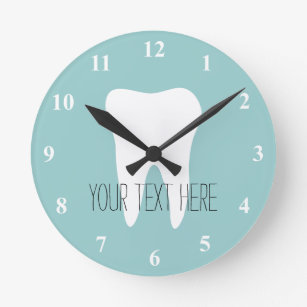 Dentist Office Wall Clock With Tooth Logo