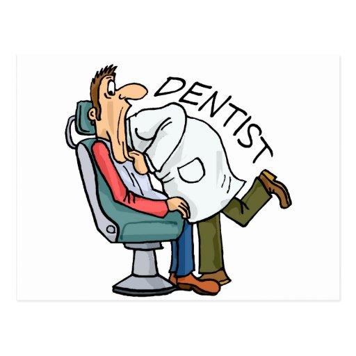 Dentist Open Wide Postcard