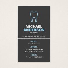Dentist Or Dental Assistant, Modern, Blue And Gray Business Card at Zazzle