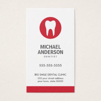 Dentist or dental clinic/assistant modern minimal business card