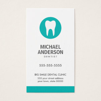 Dentist or dental clinic / assistant modern teal business card