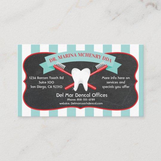 Dentist or dental hygienist business cards zazzle dentist or dental hygienist business cards colourmoves