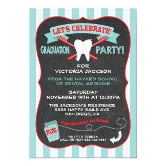 Dentist or dental hygienist Graduation party 5x7 Paper Invitation Card