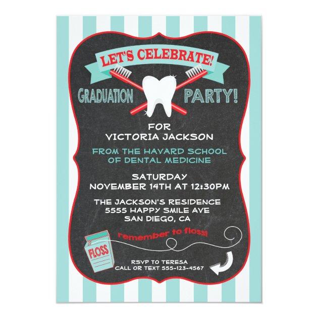2018 graduation party invitations for dental dentist graduates dentist or dental hygienist graduation party invitation filmwisefo