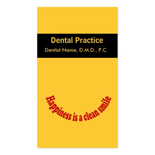 Dentist Oral Care Appointment Card