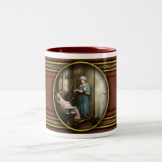 Dentist - Patient's is a virtue 1920 Two-Tone Coffee Mug