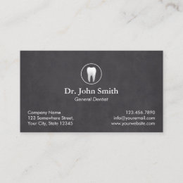 Dental business cards templates zazzle dentist plain chalkboard dental appointment reheart Image collections