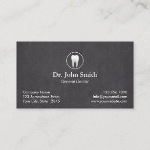 Dental business cards templates zazzle dentist plain chalkboard dental appointment colourmoves