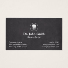 Dentist Plain Chalkboard Dental Appointment Business Card at Zazzle